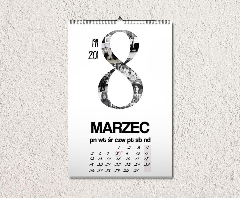 kalendarz marzec - Feministyczny kalendarz na marzec