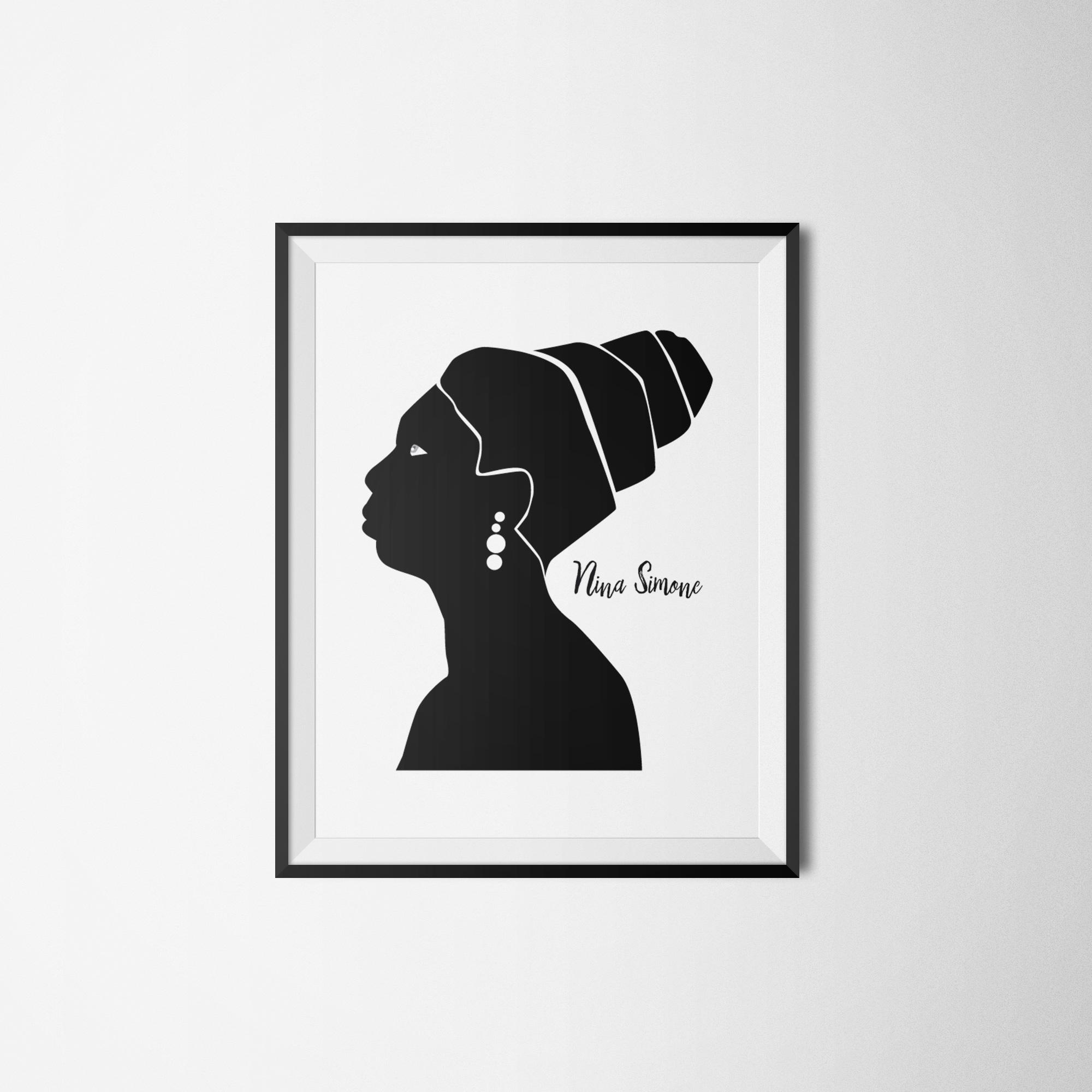 nina plakat wall - Feministyczny kalendarz. Nina Simone na luty