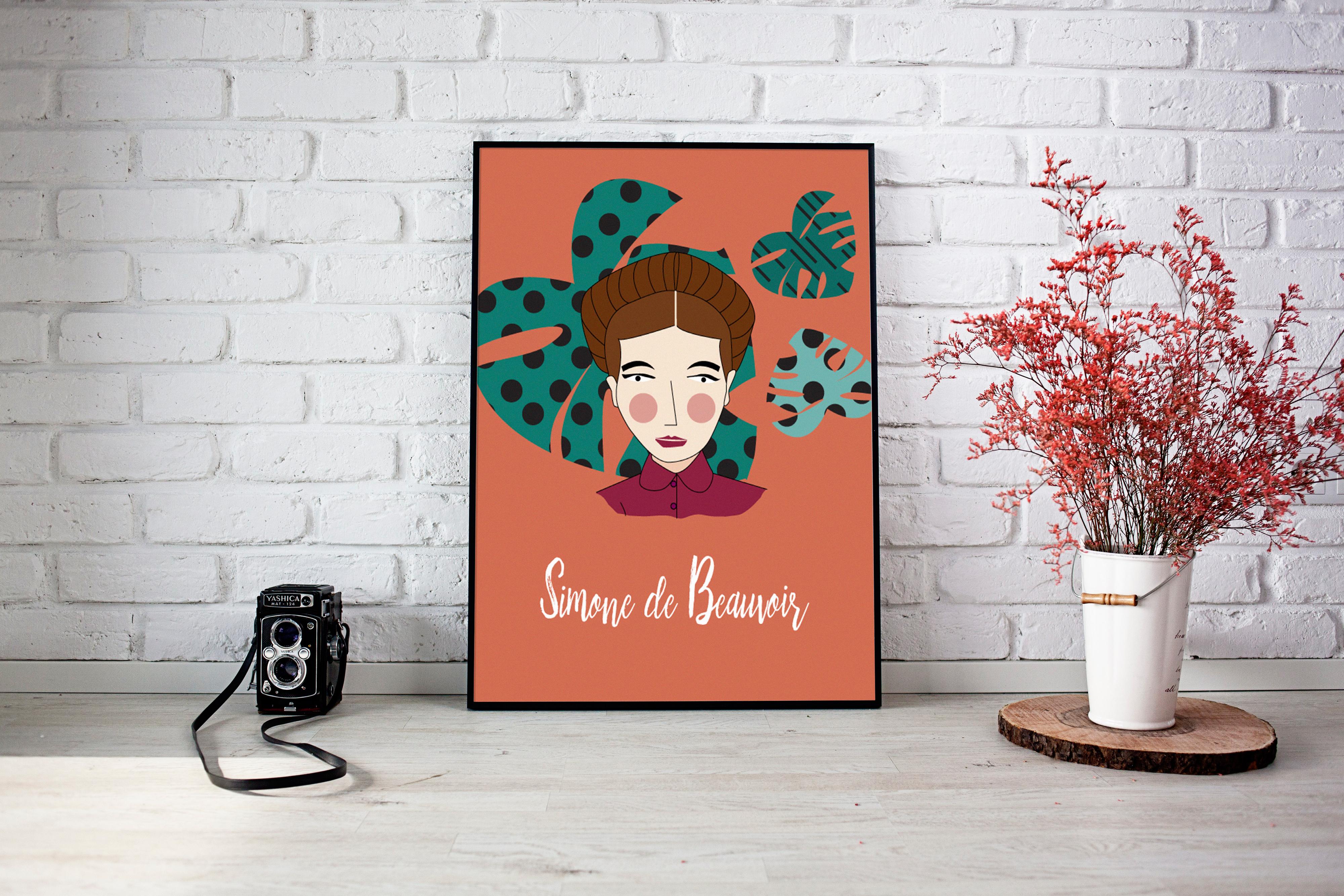 sdb2 - Feministyczny kalendarz na kwiecień. Simone de Beauvoir
