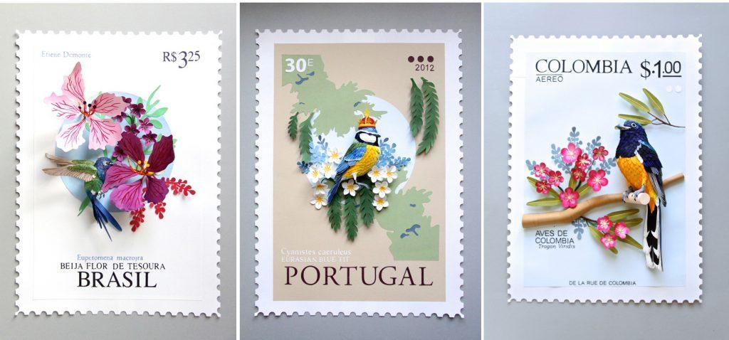 stamps 1024x478 - Gry komputerowe, jelenie i smoki, czyli cuda z papieru