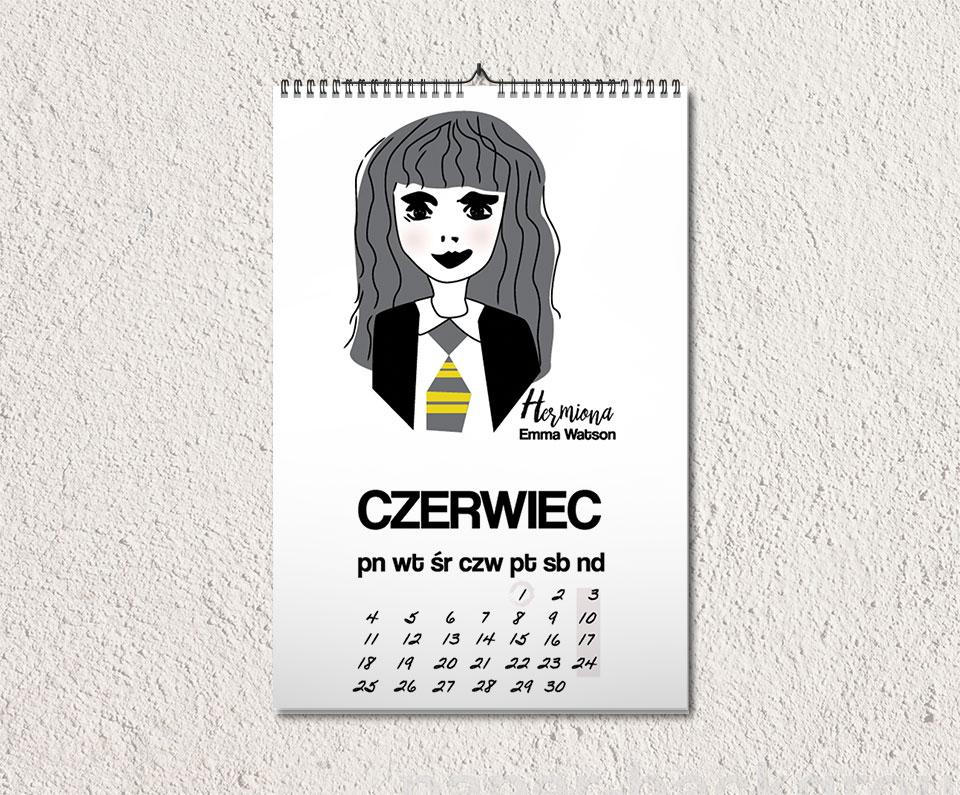 kalendarz czerwiec - Feministyczny kalendarz. Hermiona na czerwiec i dzień dziecka