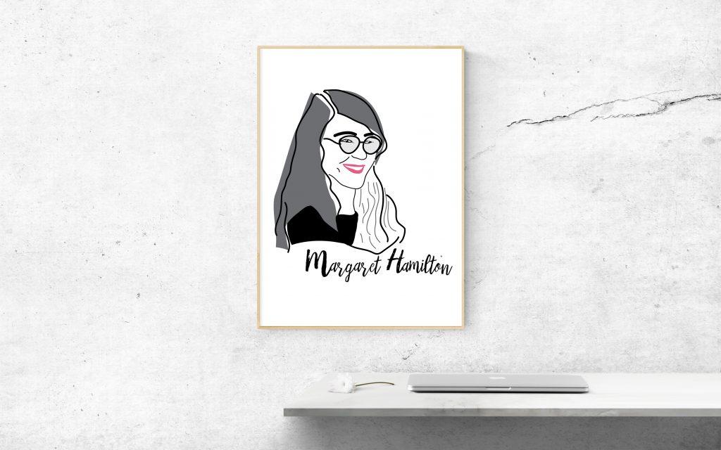hamilton plakat 1024x640 - Feministyczny kalendarz na sierpień. Margaret Hamilton